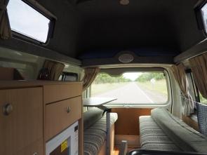 Big campervan inside