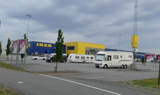 People camping at Ikea