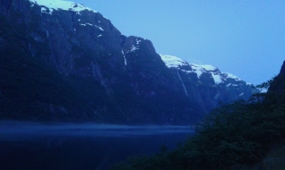 Naeroyfjord at night