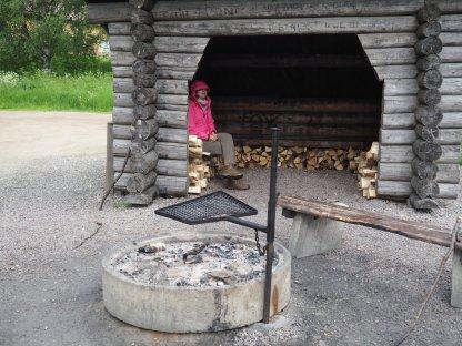 Laavu wooden shelter & public BBQ