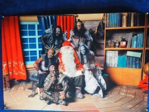Famous locals Lordi visiting Santa